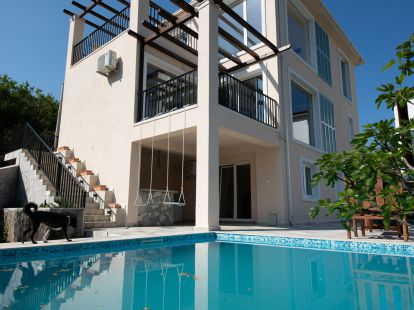 Villa Tivat, suburb, 4 bedrooms, пл.: 190/44м2, to the sea/ocean/bay, near sea, furnished, terrace, communal pool, newbuilding, elite
